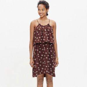Madewell silk halter dress